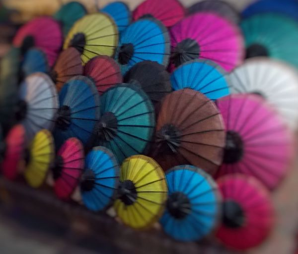 Paper View Umbrellas Colorful Handmade Market Luangprabang In Laos The Innovator