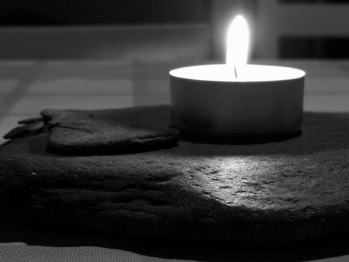 Contrast Black And White Black & White Monochrome monochrome photography Slate Slate - Rock Candle Ink Close-up Tea Light Bonfire Candlelight Flame Burning Wax Lit Fire - Natural Phenomenon Fire