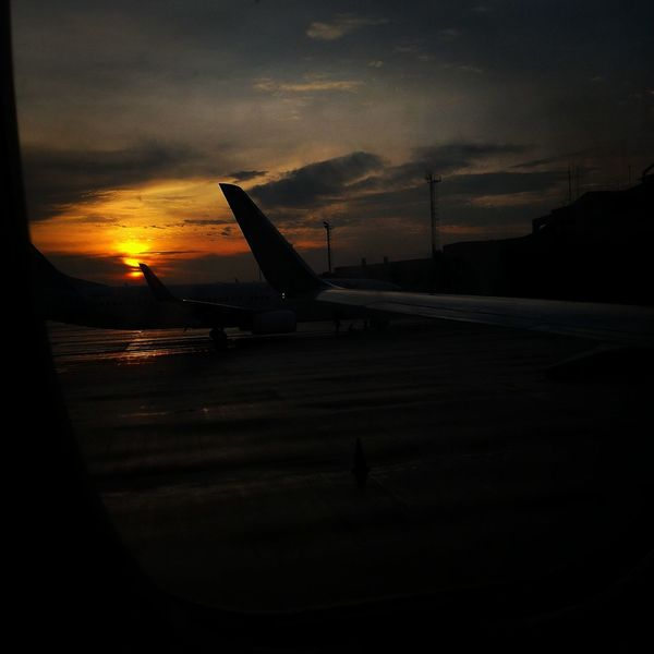 Sunset Sky Nature Airport Runway Outdoors Dark Sun Wonderful Indonesia Palembang-Indonesia Indonesian Photographers Collection Obelixphotohraphy
