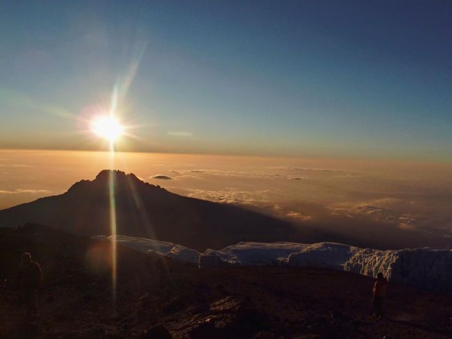 over the clouds Edge Of The World Kilimanjaro Mountainpeak Tanzania Sunrise My Best Photo 2015 Challenges Climbing A Mountain It's Cold Outside 43 Golden Moments Landscapes With WhiteWall Nature_collection Nature Photography Natural Beauty Mountain View Mountains And Sky The Great Outdoors - 2016 EyeEm Awards