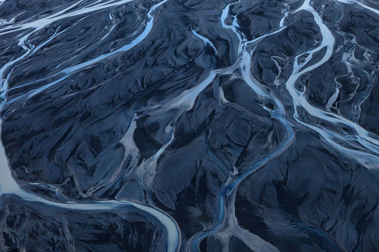 Patterns In Nature Daytime No People Outdoors Aerial View Nature Travel Iceland Glacial River