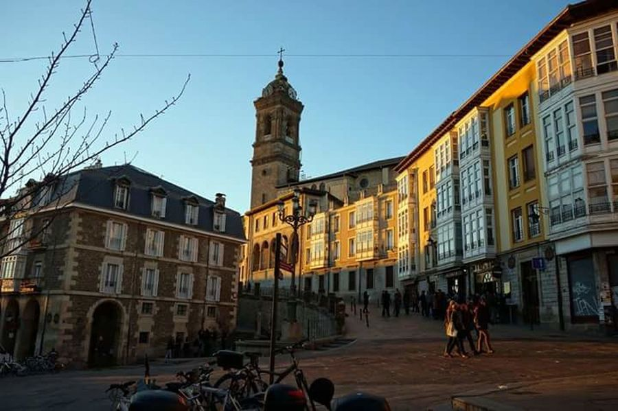 City Street Tower Vitoria Vitoria / Gasteiz Gasteiz Atardecer Dusk City Vitoria-gasteiz Vitoria