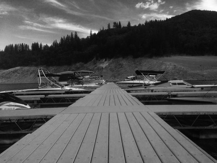 The Boat Docks Lovely Weather Blackandwhite Quality Time Peace And Quiet