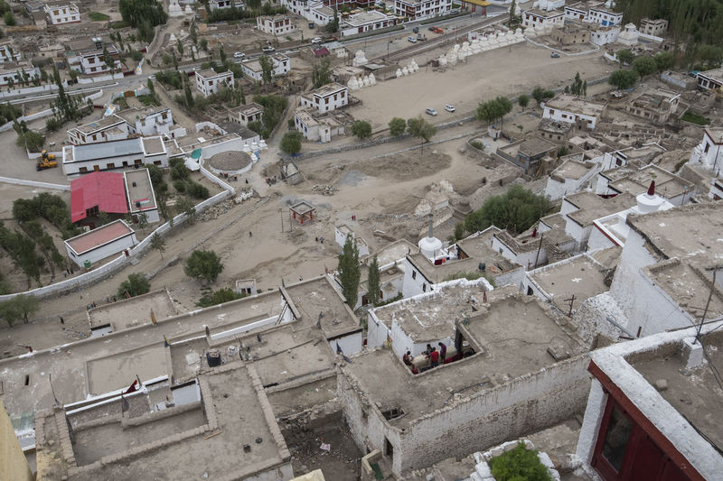 Aerial View of Thiksey Monasterry A Birds Eye View Architecture Built Structure Elevated View High Angle View Ladakh Landscape Leh Monastery Outdoors Residential Building Residential Structure Roof Thiksey Thikseymonastery Town TOWNSCAPE Travel Destinations Neighborhood Map