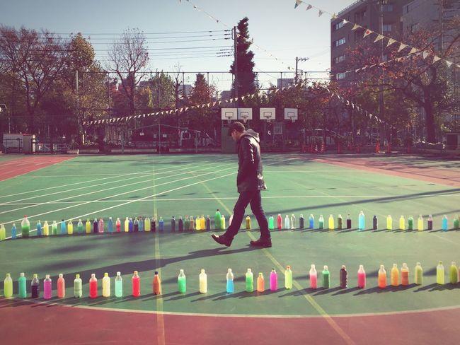 Tokyo,Japan Road On The Road Colorful Plasticbottles