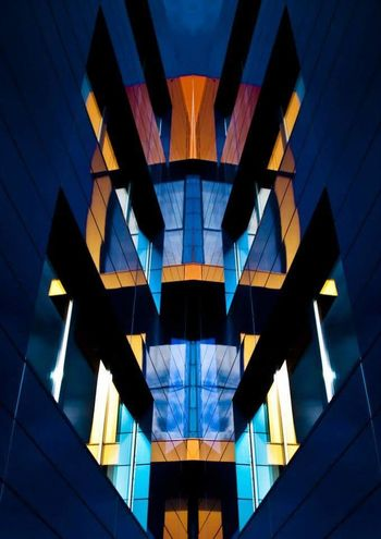 Little mirror manipulation. Let me know what do you think about it. Photography Architecture Architectureporn Architecture Photography Color City Lines Abstract Urban Geometry Building Blue Architecturephotography Architecturelover Photo Slovakia Photographer Architecture