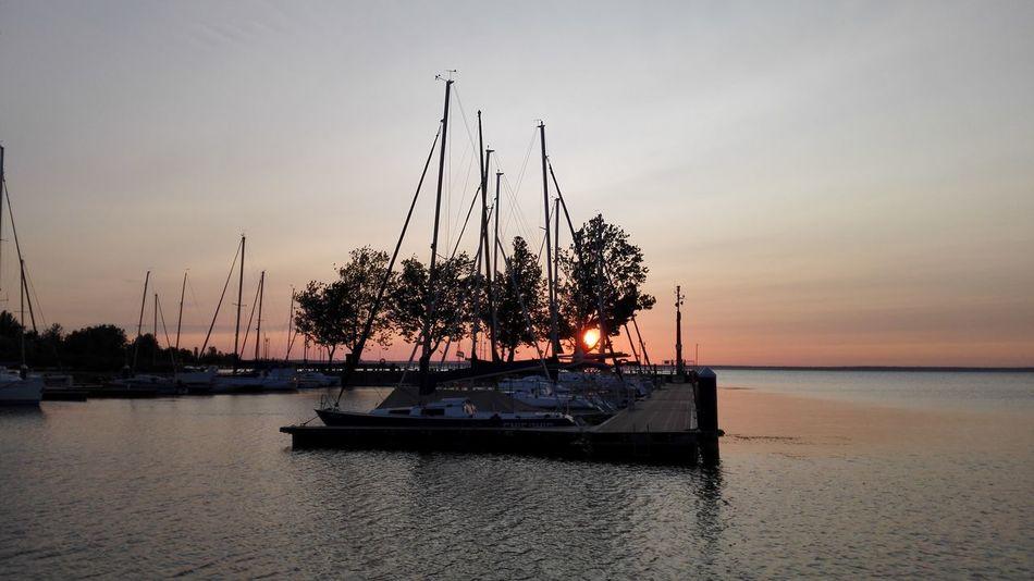 Hungary Sunrise EyeEm Selects Lake Balaton sailing harbour Landscape Water Sun Vacations Sailing Yacht Sailing Ships Sailing Boat On Lake Sunrise Colors Morning View MondayMotivation