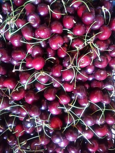 Cherries Cherry 🍒cherries Backgrounds Full Frame Vegetable Red Purple Close-up Food And Drink Raw Food Farmer Market