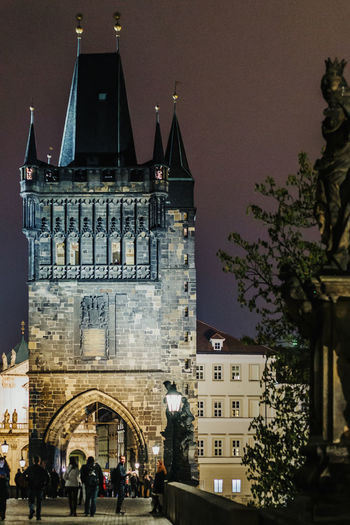 Prague Prague Czech Republic Night Prague Old Town Architecture Building Exterior Built Structure Sky Group Of People The Past History Nature Building Real People Travel Destinations Tree Incidental People Outdoors Travel Tourism City Plant People Day