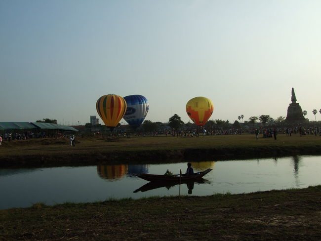 Ancirnt Remains Boat Clear Sky Hot Air Balloon Outdoors Sky Travel Destinations Water