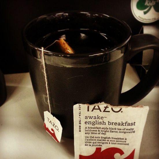 Time to do you thang Tazo let's jolt start this day. Awakeenglishbreakfast Tea