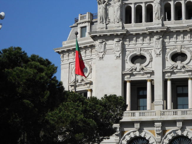 Architecture City City Hall Flag Portugal Travel Destinations Traveling View