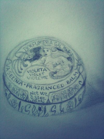 Drawing Moleskine Lipbalm Violet