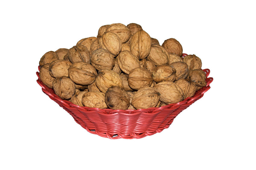Walnuts isolated on white background . Clipping path Autumn Benefit Isolated Seed Backgrounds Basket Brown Clipping Path Close-up Cut Out Delcious Dried Fruit Eat Food Food And Drink Fruit Healthy Eating Mineral No People Nut - Food On Walnuts White White Background White Color