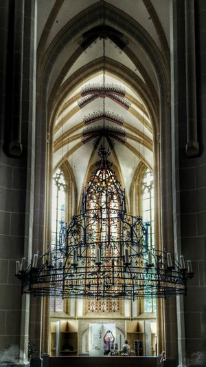 Church Interior Design Middle Ages 14th Century Iron Chandelier Light And Shadow Zutphen