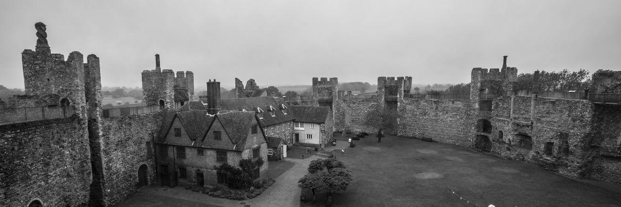 Panoramic view of framingham castle against sky
