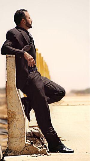 Man Bridge Sun Suit Black Suit