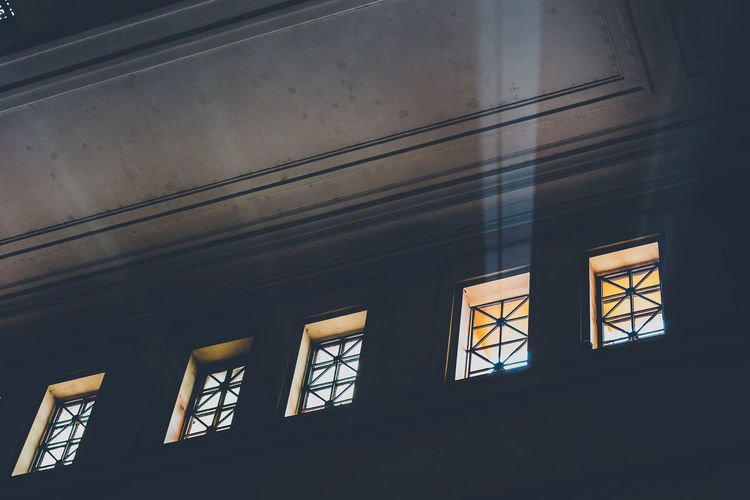 Adapted To The City Architecture Built Structure Ceiling Day Indoors  Low Angle View No People Sun Beams Sun Rays Window Windows