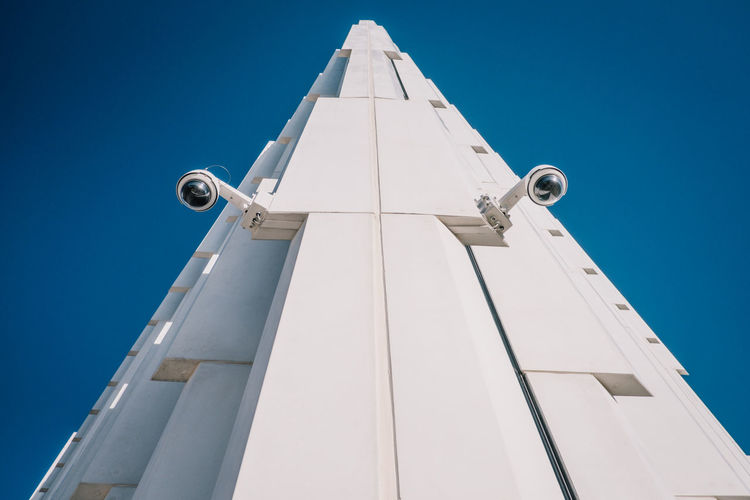 Camera NSA Architecture Blue Building Exterior Built Structure City Clear Sky Day Low Angle View No People Outdoors Sky Spy überwachung überwachungskamera