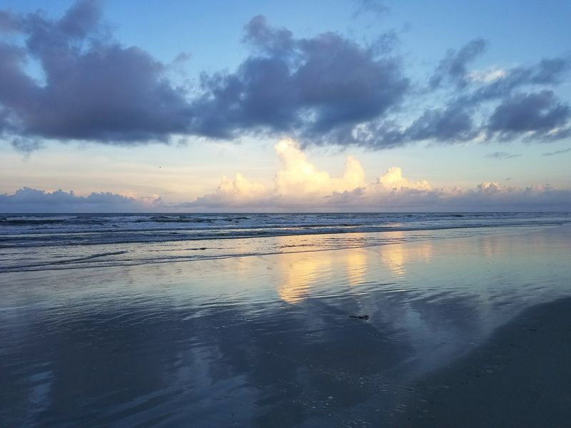 Sea Water Beach Reflection Beauty In Nature Sunset Scenics Dramatic Sky Landscape Travel Destinations St Augustine, FL Seashore Photography Hanging Out With Friends
