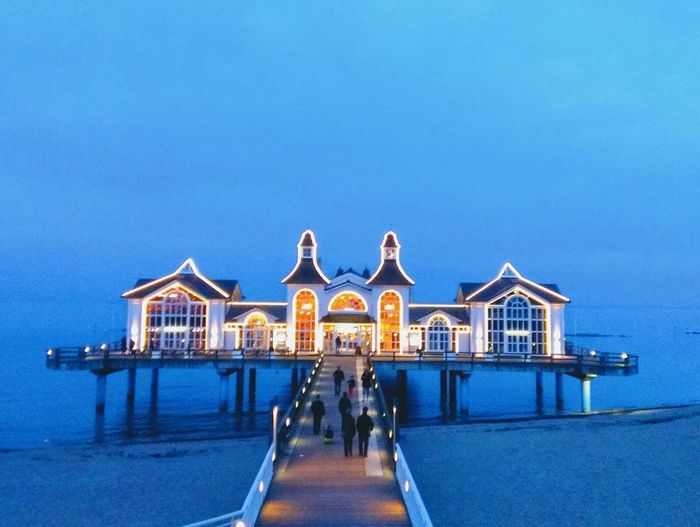 Insel Rügen Sellin Seebrücke Travel Blue Travel Destinations Sky Architecture People Outdoors Day