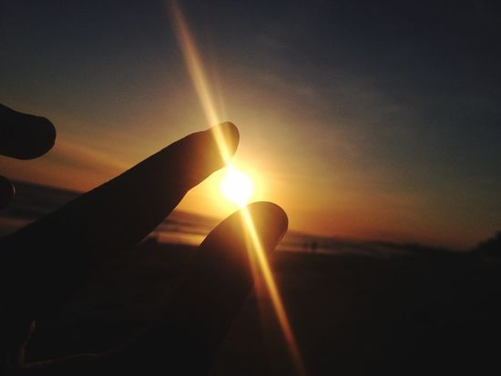 I can touch the sun Holiday Sunset Beautiful