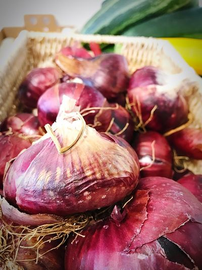 Beautiful Onions Abundance Colorful Freshness Art In Food EyeEm Best Shots Amazing Colors Garden Vegetables Beauty In Nature Yummy Food IPhoneography Fresh Produce Garden Food Red Onions Food And Drink Food Freshness Wellbeing Healthy Eating Close-up Vegetable Focus On Foreground Onion Indoors  Ingredient Still Life Garlic No People High Angle View Raw Food
