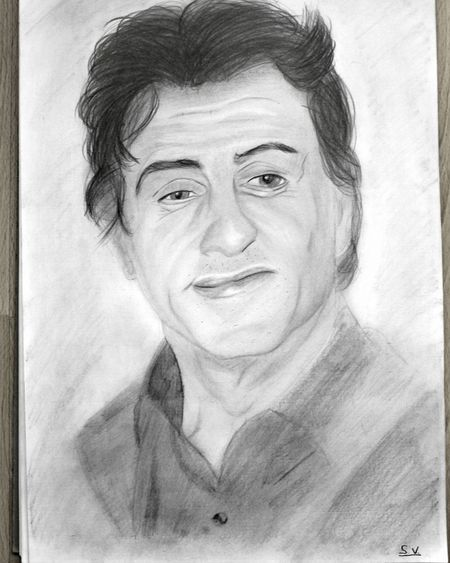 By Sam. Sylvester Stallone with pencil. Sketch My Art MyArt Dessin Desenho Art Drawing Doodle Art Gallery Draw Drawings Doodle Art Sylvesterstallone Rocky Pencilart Portrait Portraits