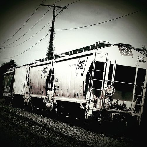On down the line Tracks Traintrack Train NorfolkVA Norfolksouthern 757 Blackandwhite Drcharlesstanley