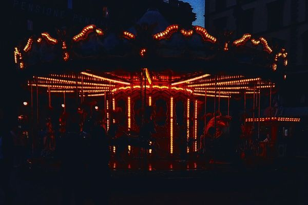 Night Illuminated Copy Space No People Outdoors Firenze City Life Firenzeview Hotdaysaregooddays Travel Photography EyEmNewHere Perspective Dramatic Scene Eye4photography  Silhouette Setfiretotherain Endofday Spring Photography Italy🇮🇹 EyeEm Gallery Getty Images Street Carousel Carousel Horse Visual Feast
