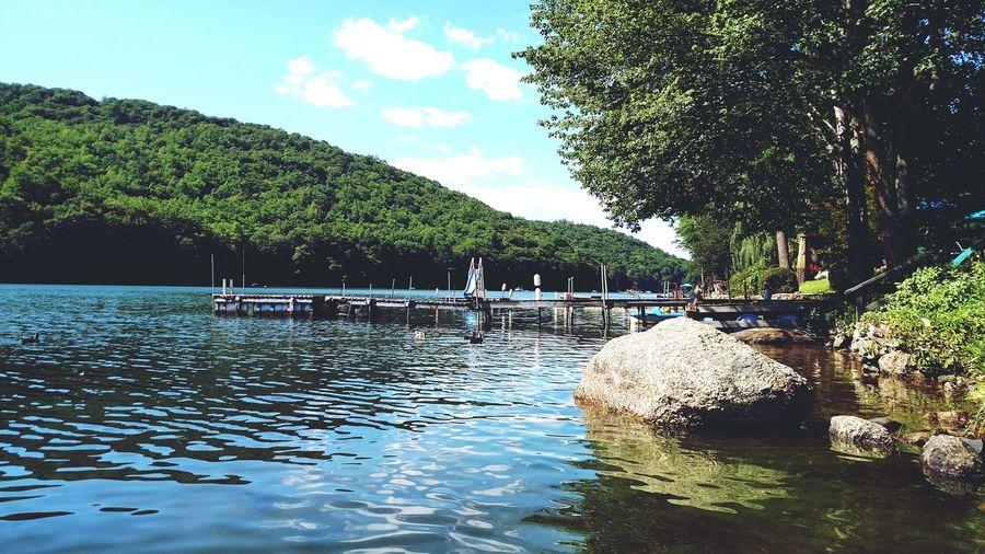 Taking Photos Check This Out Lake View Squantz Pond Sunnyday☀️ Dock