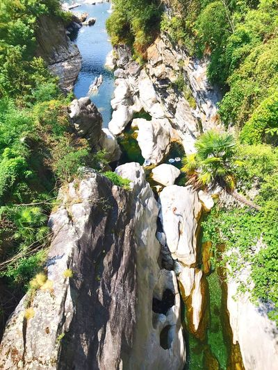 Switzerland Ticino Valle Maggia, Switzerland Maggia Water Nature Sunlight Rock Day Solid Rock - Object Tranquility Beauty In Nature Outdoors Green Color EyeEmNewHere My Best Travel Photo A New Beginning