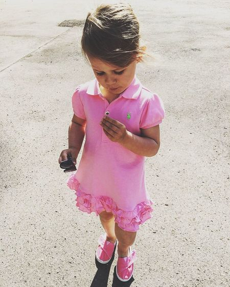Live For The Story Pink Color Children Only Childhood One Person Child Day Ralph Lauren Ann Love Standing Outdoors