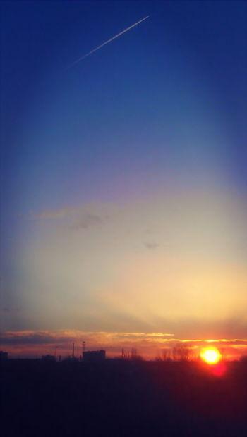 Airplane Evening Gattaca No People Silhouette Sky Sunset Dramatic Sky Astronomy