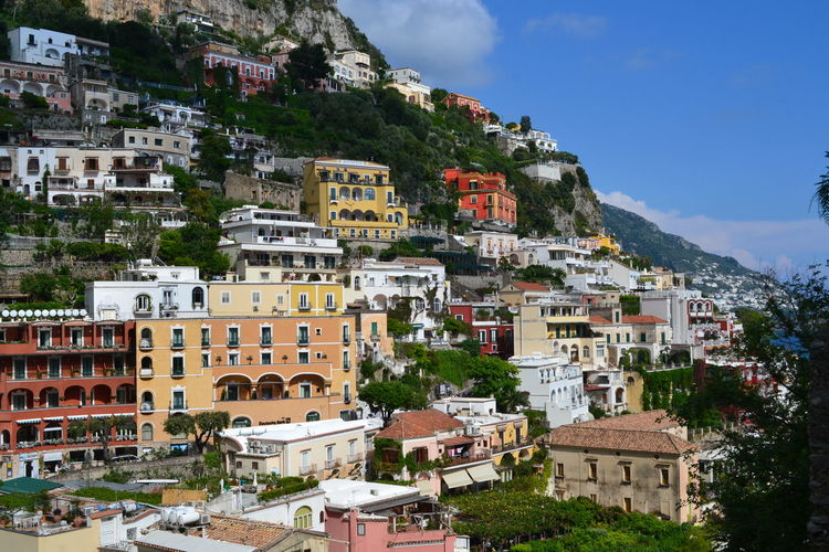 Architecture Building Exterior Built Structure City Residential District Building Mountain Sky Crowd Nature House Town Day Crowded Community Outdoors Travel Destinations Tree TOWNSCAPE Cityscape Positano Amallfi Amalfi Coast Italy
