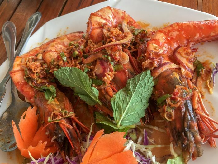 Tomyumkung Tom Yom Goong ต้มยำกุ้ง Thai Food Prawn Shrimps Food Food And Drink Freshness Seafood Wellbeing High Angle View Ready-to-eat Meal Lobster Serving Size Crab Shrimp - Seafood Plate No People Close-up Indoors  Crustacean Healthy Eating Still Life Table