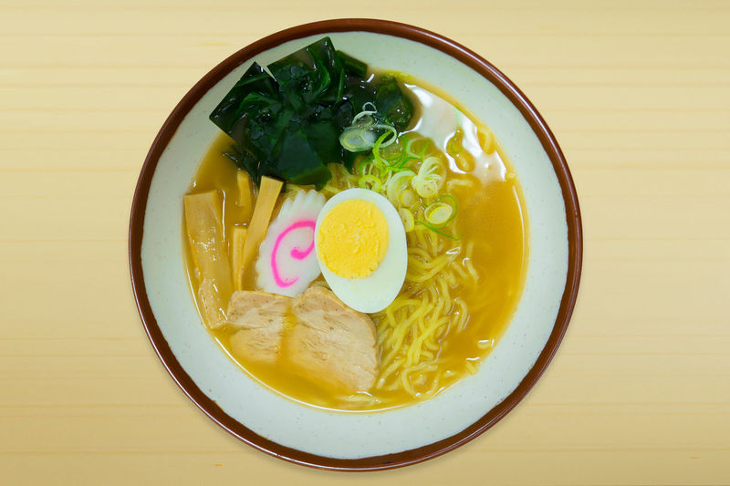 The ramen noodles pork Japanese food in bowl on wood top table image top view. Ramen Noodle Ramen Noodle Soup Sea Vegetation Bowl Close-up Day Food Food And Drink Freshness Healthy Eating Indoors  No People Ramen Bowl Ramen Noodles Ramen Shop Ramen Time Ready-to-eat