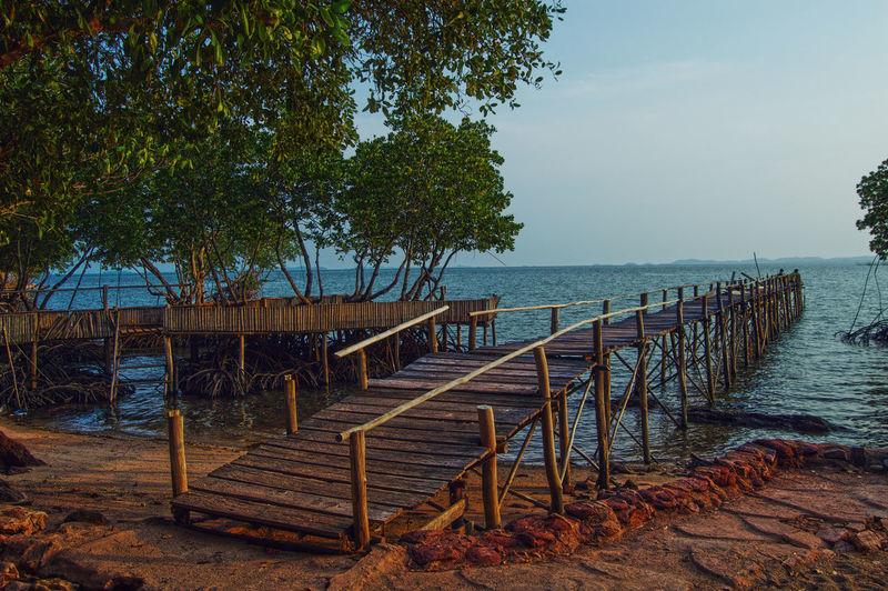 Batam Galang Baru Travel Bakau Beach Beauty In Nature Bridge Cakang Destination Galang Baru Island Jembatan Mangrove No People Outdoors Pantai Photography Red Sand Sea Tourism Water Wooden