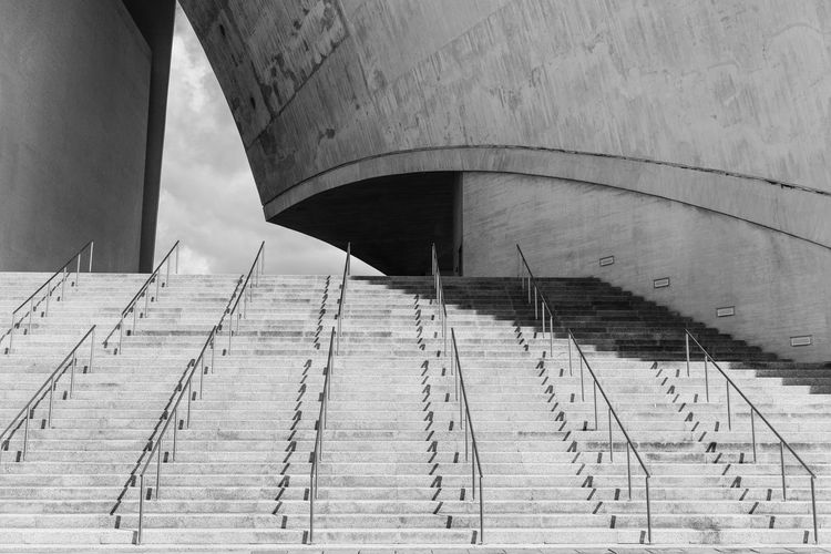 Modern Stairs Arch Architectural Column Architecture Bridge Bridge - Man Made Structure Building Building Exterior Built Structure Ceiling Concrete Connection Day Low Angle View Nature No People Outdoors Pattern Railing Staircase Steps And Staircases Transportation Wall - Building Feature The Great Outdoors - 2018 EyeEm Awards The Architect - 2018 EyeEm Awards Capture Tomorrow