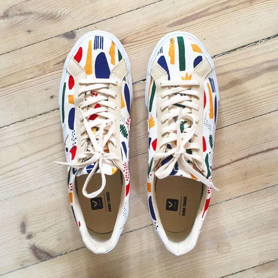 New Kicks New Kickz New Shoes Shoes Sneaker Sneakers Sneakerhead  Matisse Cutouts Art Modern Art Veja Colorful White