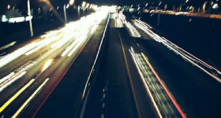 Still practicing Long Exposure Streets Streetphotography Lights Highways&Freeways Cars Looking Out Standing On A Bridge Lighttrails Tadaa Community