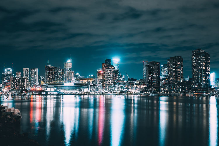 Architecture Buildings Cityscape Landscape Melbourne Modern Mood Night Night Lights Reflection Urban Skyline Water Waterfront