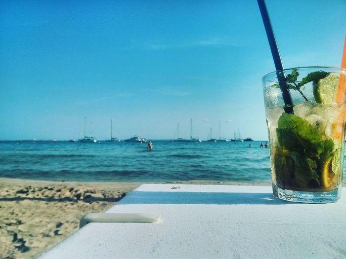 Paradise ..... Taking Photos Relaxing Enjoying Life EyeEm Summer Water Sun Ibiza Picoftheday EyeEm Nature Lover Mojito! Vibrant Colors EyeEm