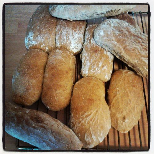 Homemade bread. Yummi. Bread Rolê Rundstykke Baking homemade natural whete