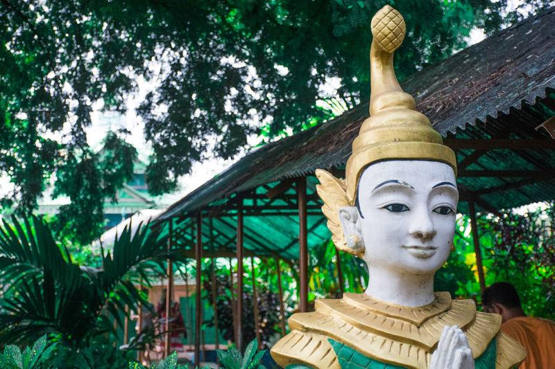 Art Buddha Decoration Human Representation Low Angle View Religion Sculpture Statue Temple - Building Kuakata Bangladesh