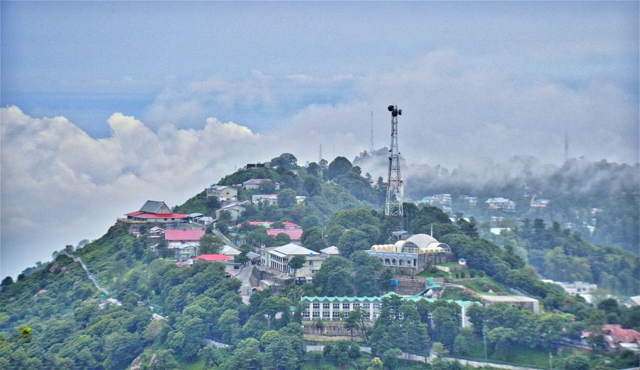 Beautiful Murree clad in fog Amazing Pakistan City Cloud - Sky Cloudy Hill Landscape Murree, Pakistan Residential Building Residential District Residential Structure Town Travel Destinations Adapted To The City