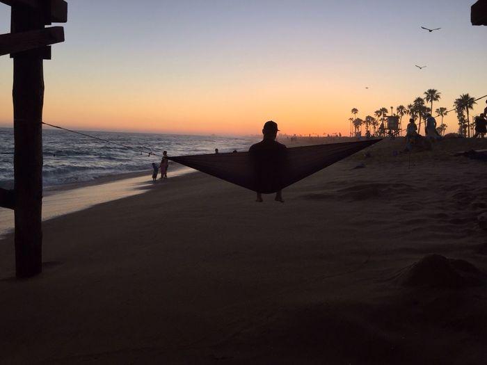 IPhone Photo Of The Day EyeEm Best Shots Newport Beach Golden Hour Hammock Balboa Pier Balboapier Balboa Peninsula