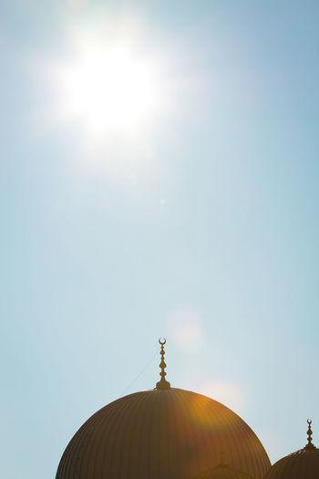Architecture Clear Sky Copy Space Cupola Day Dome Illuminated Islam Islamic Islamic Architecture Light Moschee Mosque No People Outdoors Place Of Worship Reflection Religion Sky Sun Sunlight Symbol