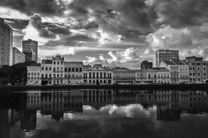 Architecture Built Structure Building Exterior Cloud - Sky Water Building Sky City Reflection Waterfront Nature No People Residential District River Day Outdoors City Life Cityscape Travel Destinations