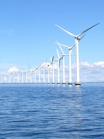 Alternative Energy Environment Horizon Over Water Nature Renewable Energy Sea Sky Sustainable Resources Waterfront Wind Power Wind Turbine
